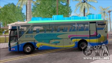 New Khan Bus G para GTA San Andreas left