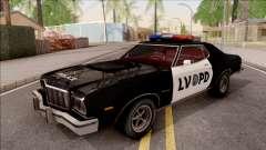 Ford Gran Torino Police LVPD 1975 v2 para GTA San Andreas
