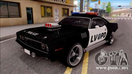 Plymouth Hemi Cuda 426 Police LVPD 1971 v2 para GTA San Andreas