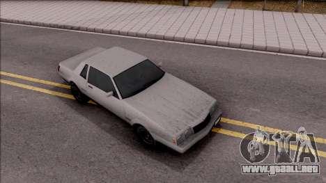 GTA IV Declasse Sabre para la visión correcta GTA San Andreas