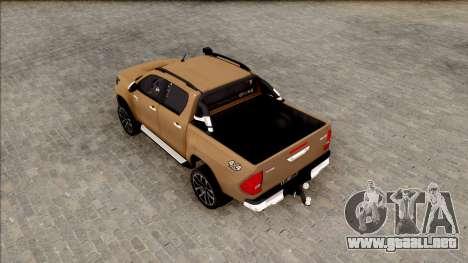 Toyota Hilux 2017 para GTA San Andreas vista hacia atrás
