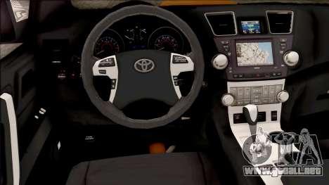 Toyota Hilux 2017 para visión interna GTA San Andreas