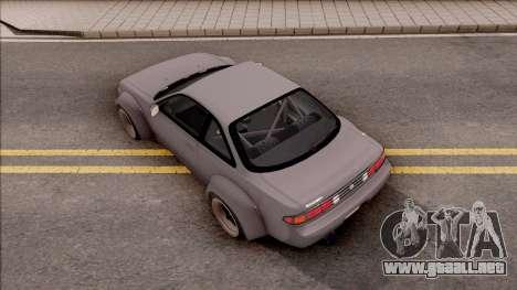 Nissan 200SX Rocket Bunny v3 para GTA San Andreas vista hacia atrás