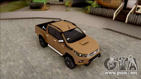 Toyota Hilux 2017 para la visión correcta GTA San Andreas