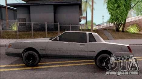 GTA IV Declasse Sabre para GTA San Andreas left