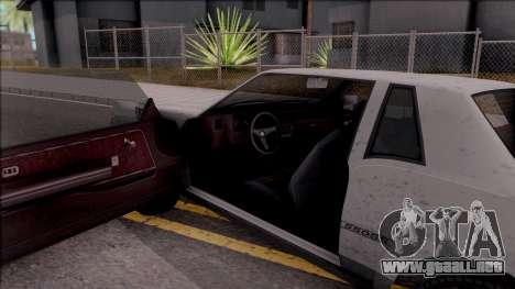 GTA IV Declasse Sabre para visión interna GTA San Andreas