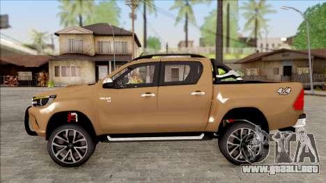 Toyota Hilux 2017 para GTA San Andreas left