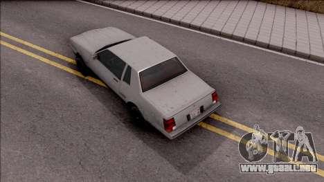 GTA IV Declasse Sabre para GTA San Andreas vista hacia atrás