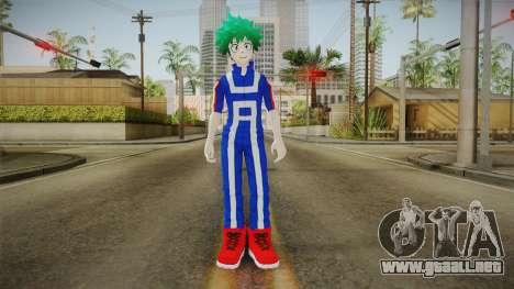 My Hero Academia - Izuku Midoriya v2 para GTA San Andreas segunda pantalla