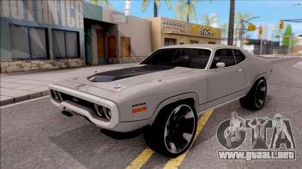 Plymouth GTX 1972 v2 para GTA San Andreas