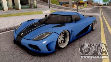 Koenigsegg Agera R Slammed para GTA San Andreas