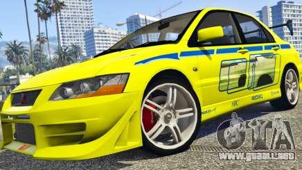 Mitsubishi Lancer Evolution VII 1.1 para GTA 5