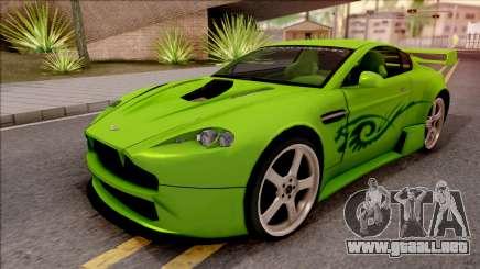 Aston Martin V8 Vantage Tuning Sin Sonido para GTA San Andreas
