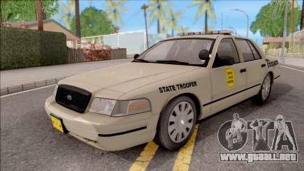 Ford Crown Victoria 2005 Iowa State Patrol para GTA San Andreas