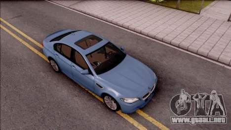 BMW M5 F10 Stock v1 para la visión correcta GTA San Andreas