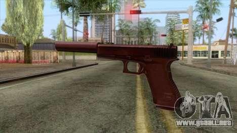 Glock 17 Silenced v1 para GTA San Andreas segunda pantalla