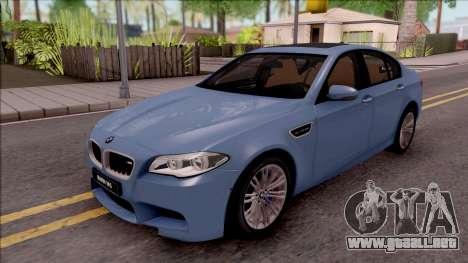 BMW M5 F10 Stock v1 para GTA San Andreas