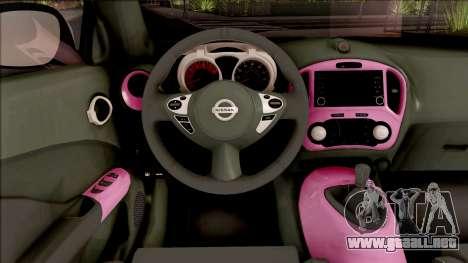 Nissan Juke Nismo RS 2014 v2 para visión interna GTA San Andreas