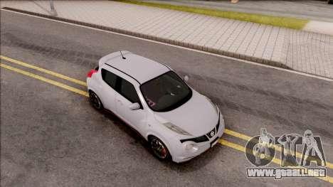 Nissan Juke Nismo RS 2014 v2 para la visión correcta GTA San Andreas