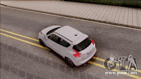 Nissan Juke Nismo RS 2014 v2 para GTA San Andreas vista hacia atrás