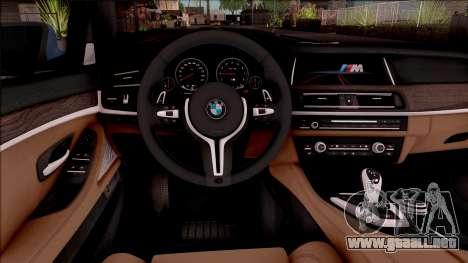 BMW M5 F10 Stock v1 para visión interna GTA San Andreas