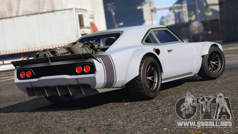 GTA 5 Dodge Charger Fast & Furious 8 vista lateral izquierda