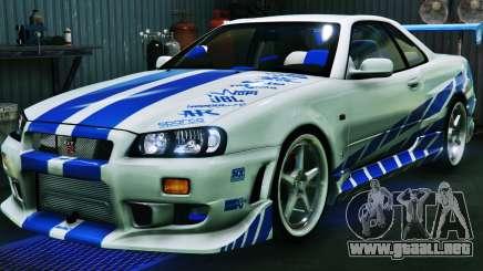 Nissan Skyline GT-R34 3.0 para GTA 5