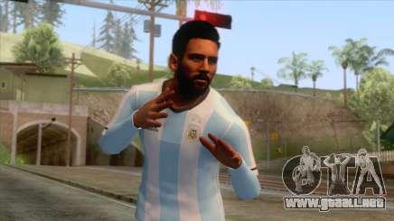 Messi Argentina Skin para GTA San Andreas