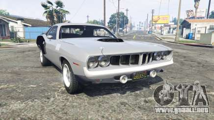 Playmouth Hemi Cuda (BS) 1971 [replace] para GTA 5