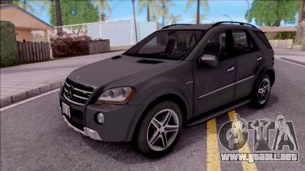 Mercedes-Benz ML 63 AMG 2009 para GTA San Andreas