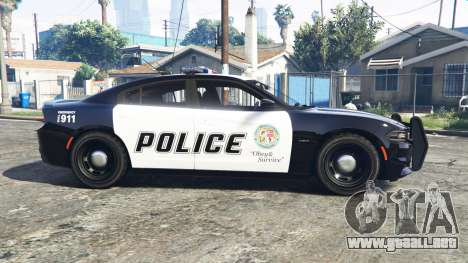 GTA 5 Dodge Charger RT 2015 Police v2.0 [replace] vista lateral izquierda