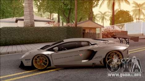 Lamborghini Aventador Liberty Walk 2012 para GTA San Andreas left