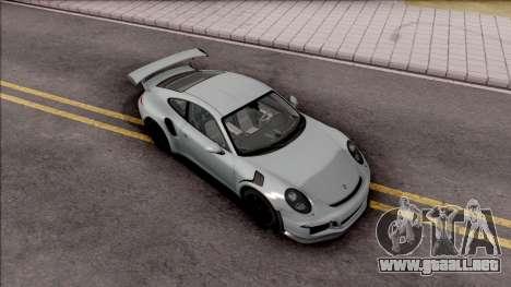 Porsche 911 GT3 RS 2016 SA Plate para la visión correcta GTA San Andreas