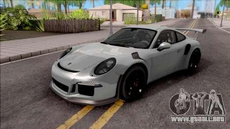 Porsche 911 GT3 RS 2016 SA Plate para GTA San Andreas