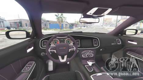 GTA 5 Dodge Charger RT 2015 Police v2.0 [replace] vista lateral trasera derecha