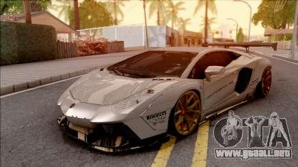 Lamborghini Aventador Liberty Walk 2012 para GTA San Andreas