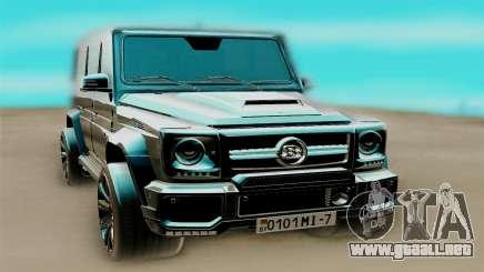 Mercedes-Benz G63 AMG чёрный para GTA San Andreas