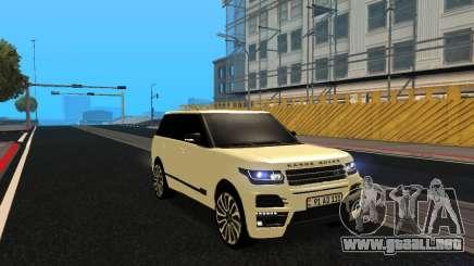 Range Rover Vogue Armenian para GTA San Andreas