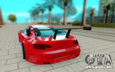 BMW M3 GTS para GTA San Andreas vista hacia atrás