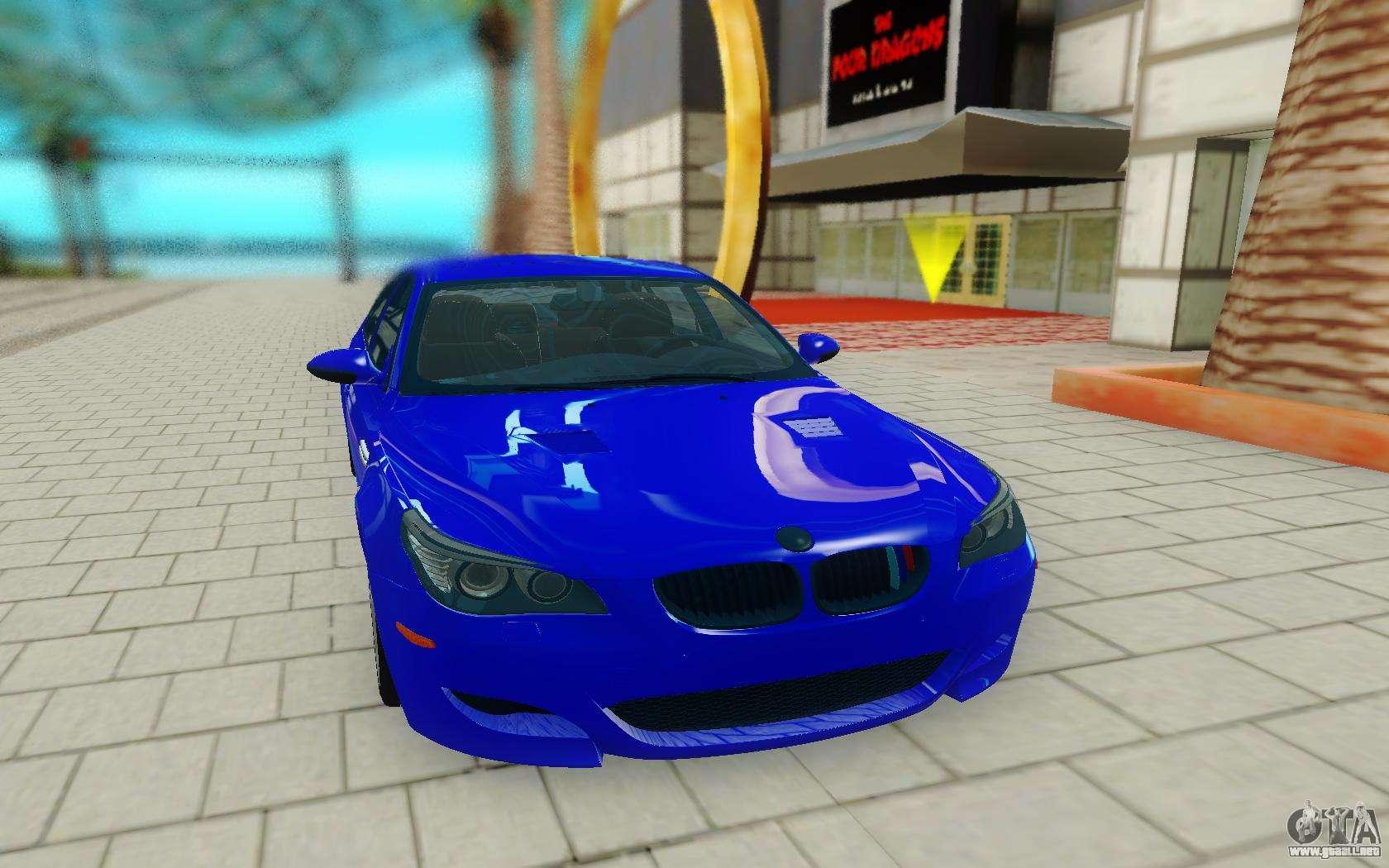 El Bmw M5 E60 Azul Para Gta San Andreas