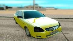 Lada Priora amarillo para GTA San Andreas