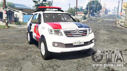 Toyota Fortuner 2014 brazilian police [replace] para GTA 5