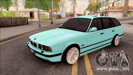 BMW 5-er E34 Touring Stance Vossen para GTA San Andreas