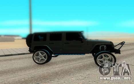 Jeep Rubicon 2012 V3 para GTA San Andreas left