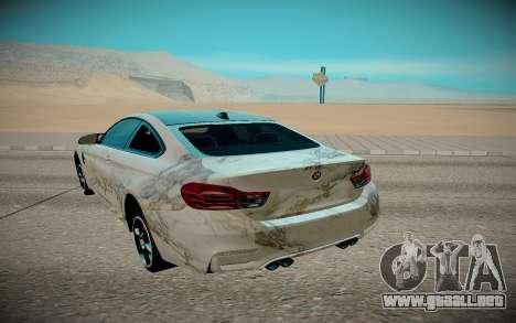 BMW M4 TR para GTA San Andreas vista hacia atrás