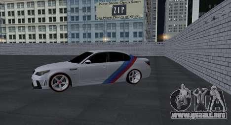 BMW M5 E60 SS (SmotraStyle) para visión interna GTA San Andreas