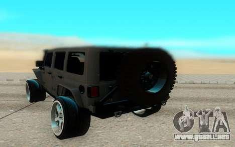 Jeep Rubicon 2012 V3 para la visión correcta GTA San Andreas