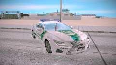 Lexus RC F Dubai Police para GTA San Andreas