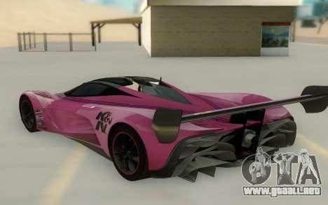 Mazda Furai Concept 08 para GTA San Andreas vista posterior izquierda