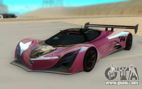 Mazda Furai Concept 08 para GTA San Andreas vista hacia atrás